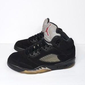 Nike Air Jordan V 5 Retro Black Metallic Sz 5 Y